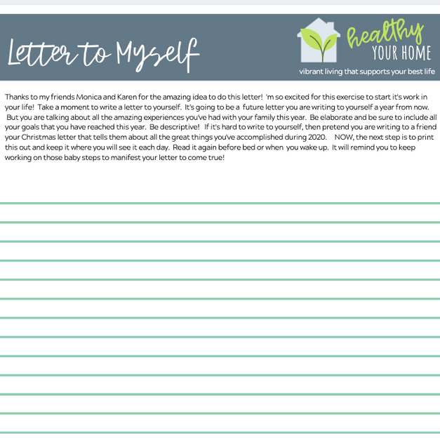 Manifesting Exercise - Letter to Self