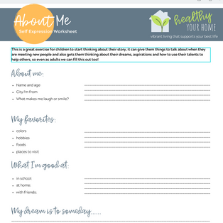 About Me - Self Expression Worksheet