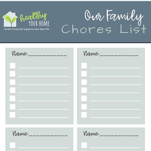 Kids Chores List