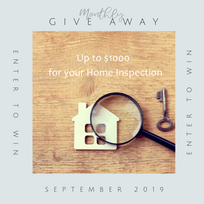 September Give Away!  Free Home Inspection