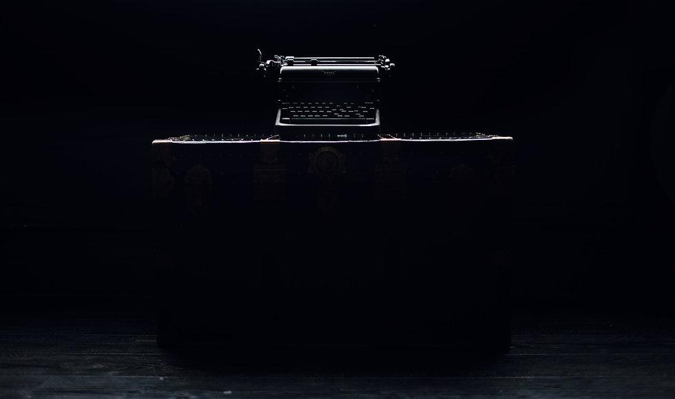 Typewriter on a chest