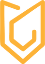 logo abloodywriter, bloodypen, arrow, pen, orange pen, minimal pen, minimal logo