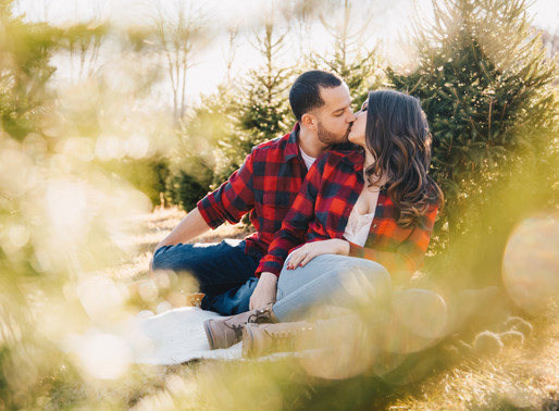 TREE FARM ENGAGEMENT | ALEXA & ADAM