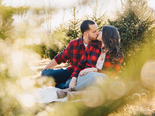 TREE FARM ENGAGEMENT | ALEXA & ADAM