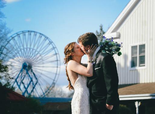 CASINO AT LAKEMONT PARK WEDDING | SARAH & PAUL