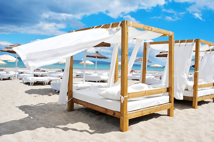 Stranden omgeving Ibiza Stad