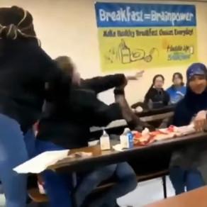 Fair or Foul? White Girl Attacks Muslim Girl, Black Girl Steps in...**Video**