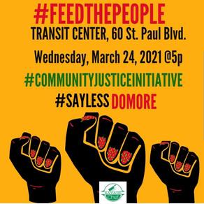 Community Justice Initiative Providing Feed Food @Transit Center