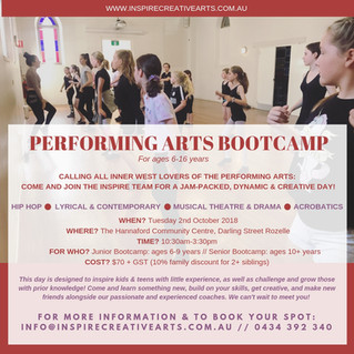 Inspire Performing Arts Bootcamp: Inner West!