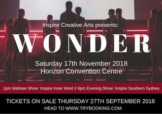 Inspire Creative Arts presents: Wonder