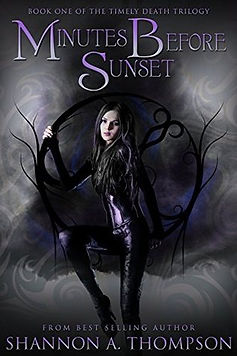 minutes before sunset a book by author shannon a. thompson