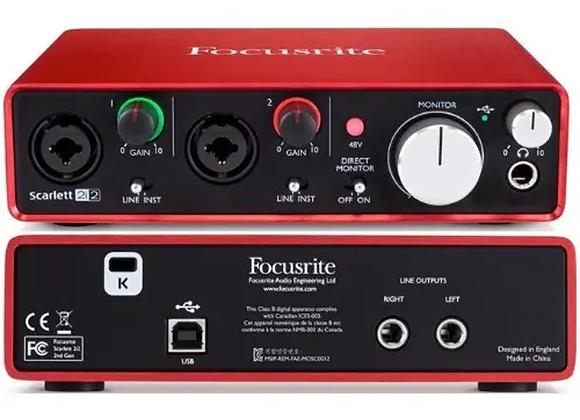 Carte d'acquisition Audio - Focusrite  Scarlett 2i2
