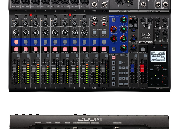 Table mixage - ZOOM LiveTrak L-12