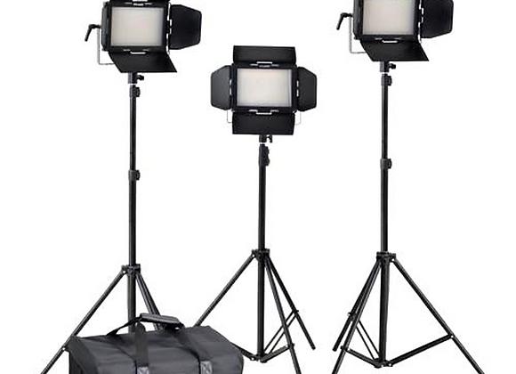 Kit de 3 LED Panel + accessoires