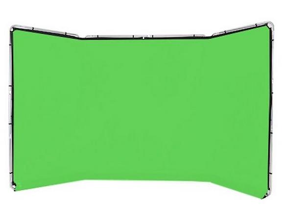 Lastolite Fond Vert autoporté 4m x 2.3m