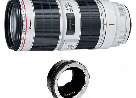 Canon  EF 70-200mm f/2.8 L USM  + Metabones EF-E