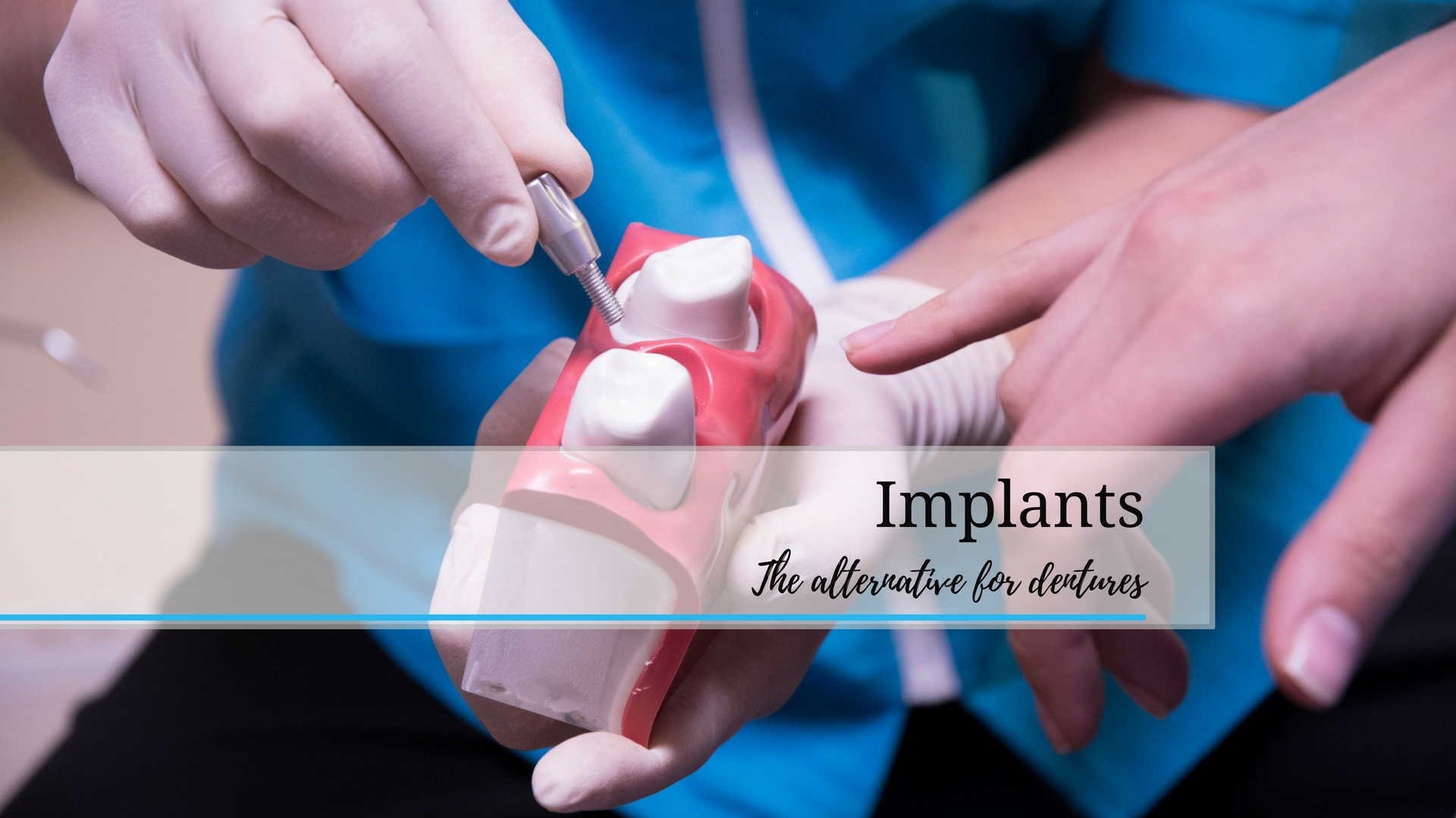 Dr A Rossouw explaining implants