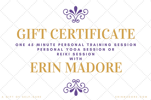 Gift Certificate For One 45-Minute Session