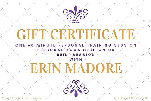Gift Certificate For One 60-Minute Session