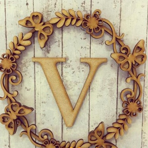Flower Wreath Initial letter (Kit)
