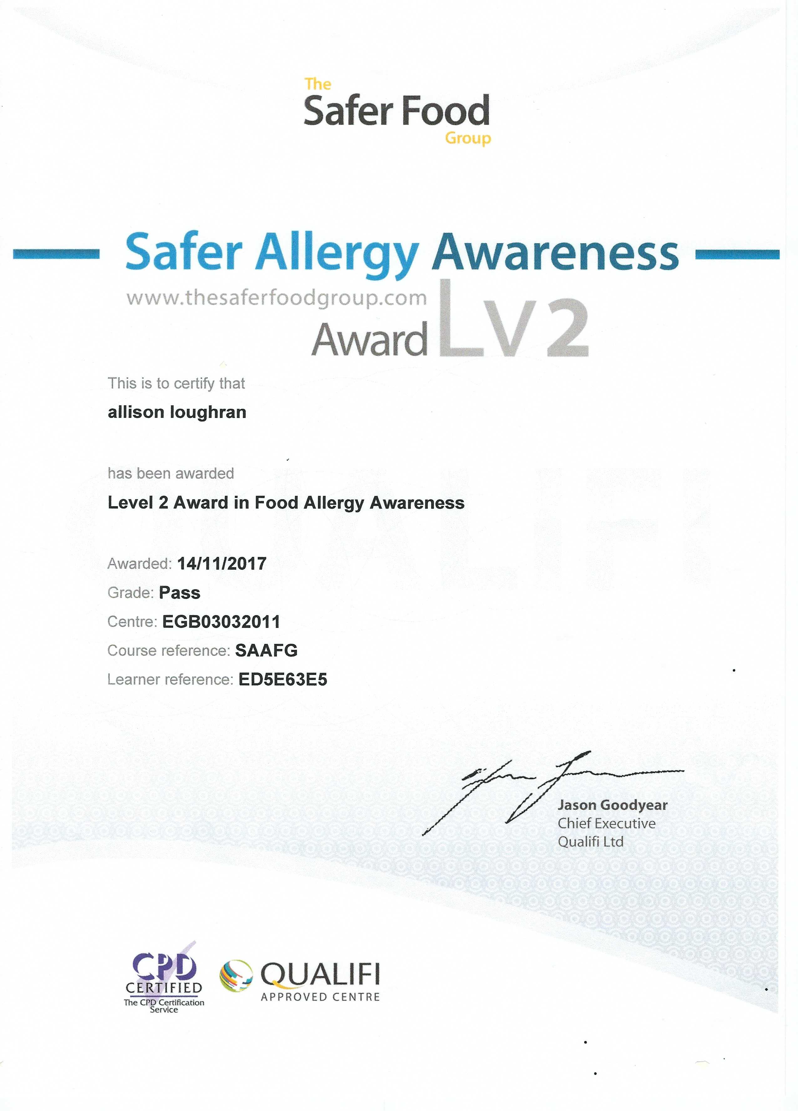 Safer Allergy Awareness