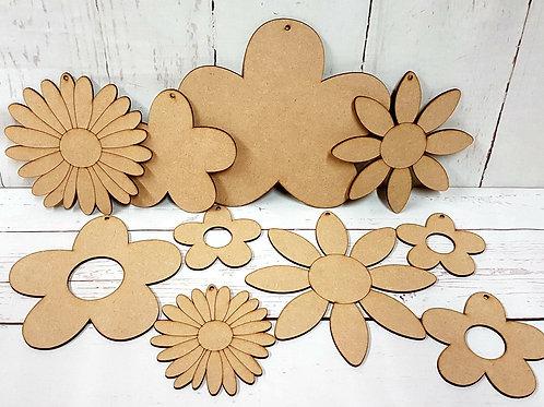 Wooden Craft Kit 3 (flowers)