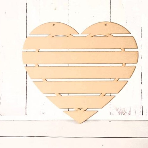 Wooden Hanging Bar Heart (3 sizes)