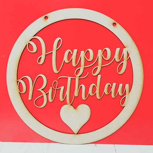 Happy Birthday hanging Wreath kits / pre-painted (3 sizes)