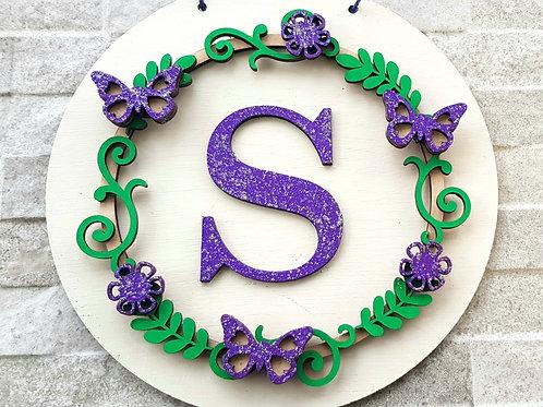 Flower Wreath Initial letter (Kit)