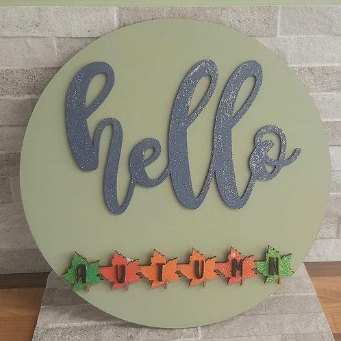 Hello (Seasons) Plaque with interchangeable 4 seasons