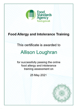 Food Allergy and Intolerence Training
