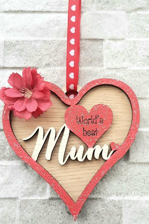 MUM oak hanging heart (Kit)