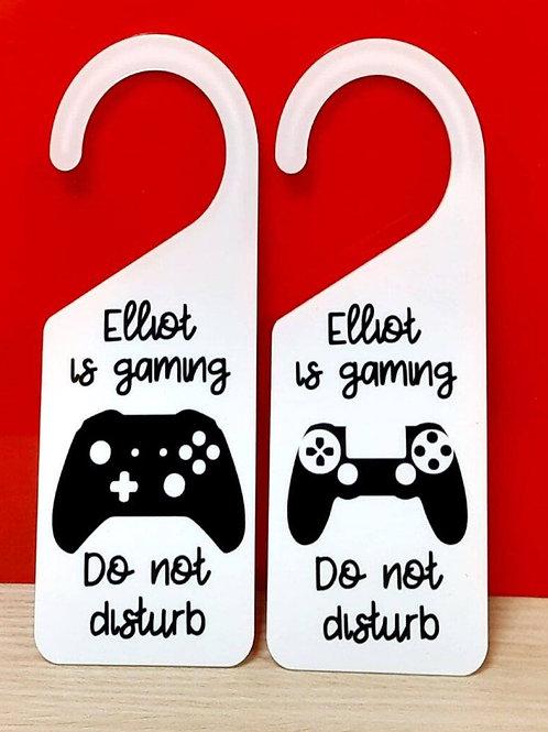 Gaming Door Plaque (personalised)