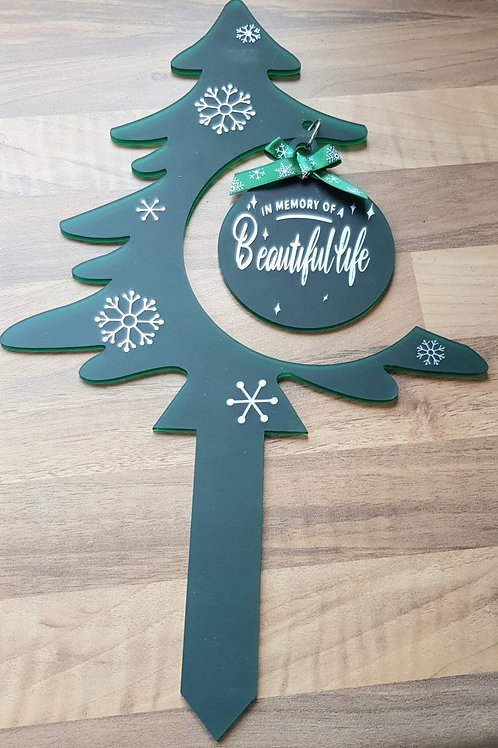 Christmas Tree Grave Marker