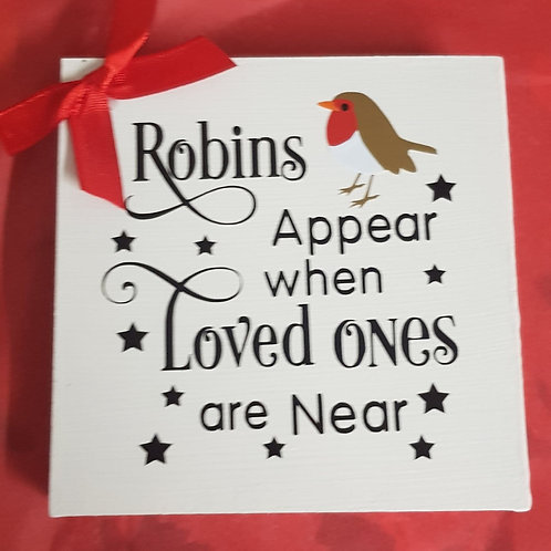 Robin Wooden Plaque