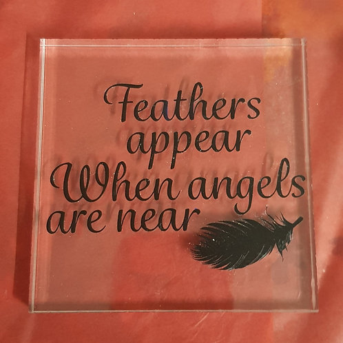 Feathers appear Acrylic Plaque