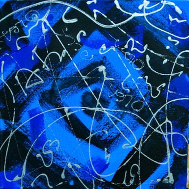 Astratto in blu.