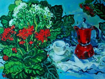 Cafetiera rossa.
