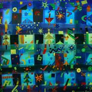 Natalizio, 50x75 cm, acquerello, carta,
