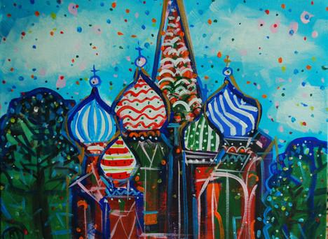 Il tempio di S.Basilio a Mosca.