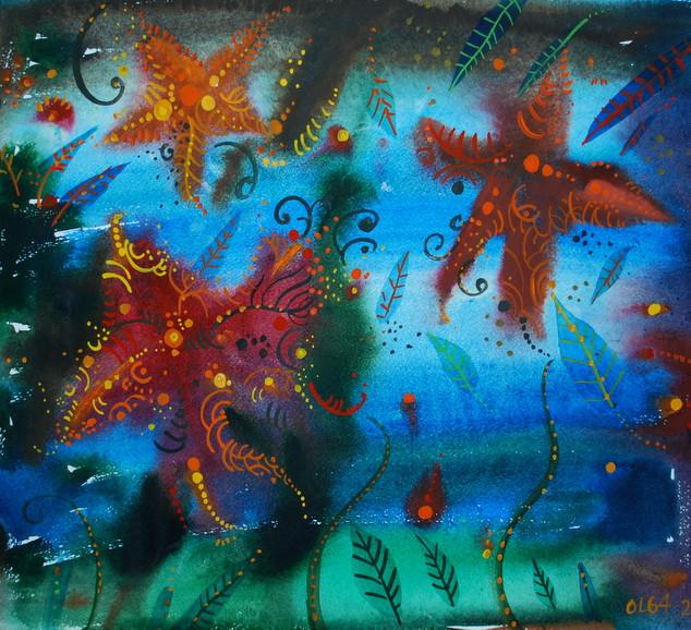 La stelle marine, 30x40 cm, acquerello,