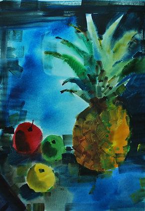 Naturamorta con l'ananas