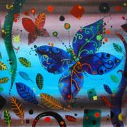 Le farfalle molto autunnale, 30x40 cm, a