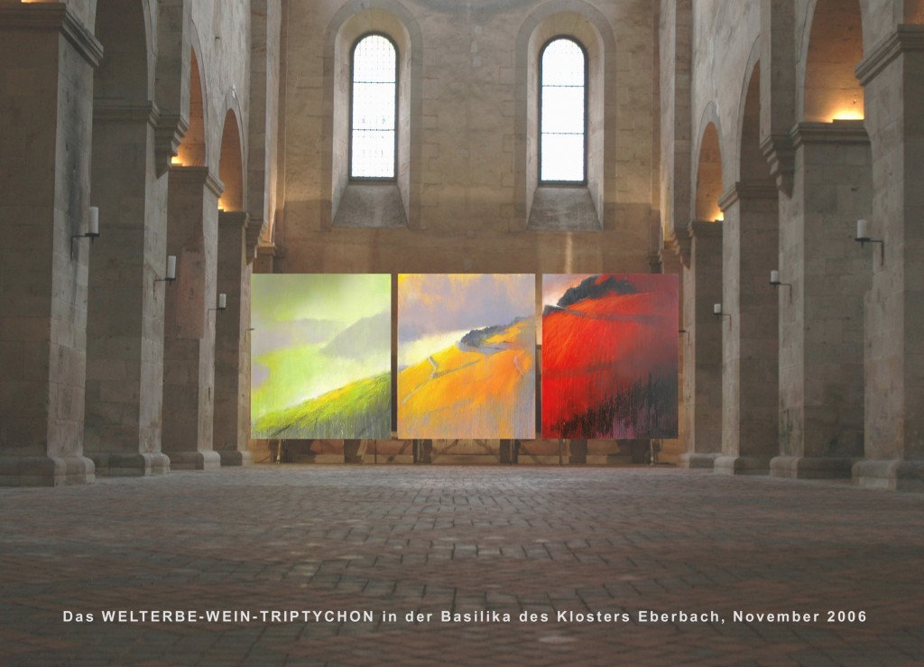 Welterbe Wein Triptychon Kloster Eberbac