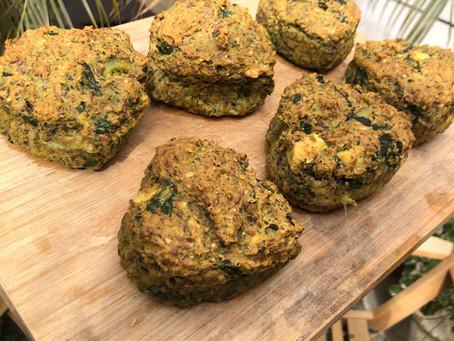 מאפינס חלבון ותרד / Spinach protein muffins