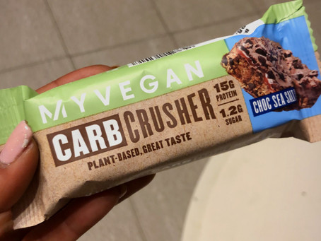 חטיף החלבון של  My Protein : carb crusher