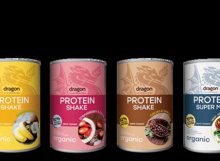 אבקות החלבון החדשות האורגניות טבעוניות של דרגון סופרפודס/ New raw vegan protein powder