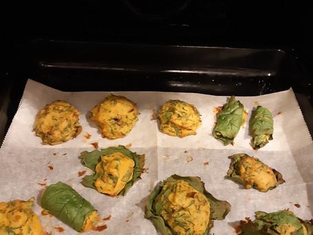 מאפי קמח סויה ותרד / Muffins of soy flour and spinach