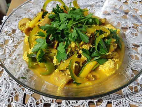 פסטה זוקיני עם טופו /Zucchini pasta with tofu