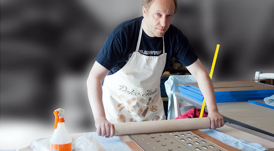Marek Jacisin in his studio